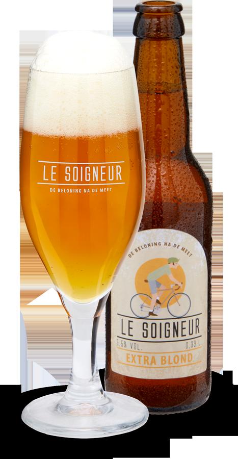 Le Soigneur - de beloning na de meet - Blond bier